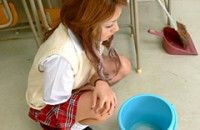 お掃除中の排尿事件