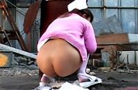 美人看護婦 強制野糞